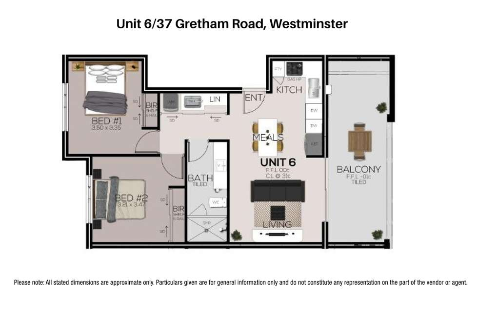 Floorplan of Homely apartment listing, 6/37 Gretham Road, Westminster WA 6061