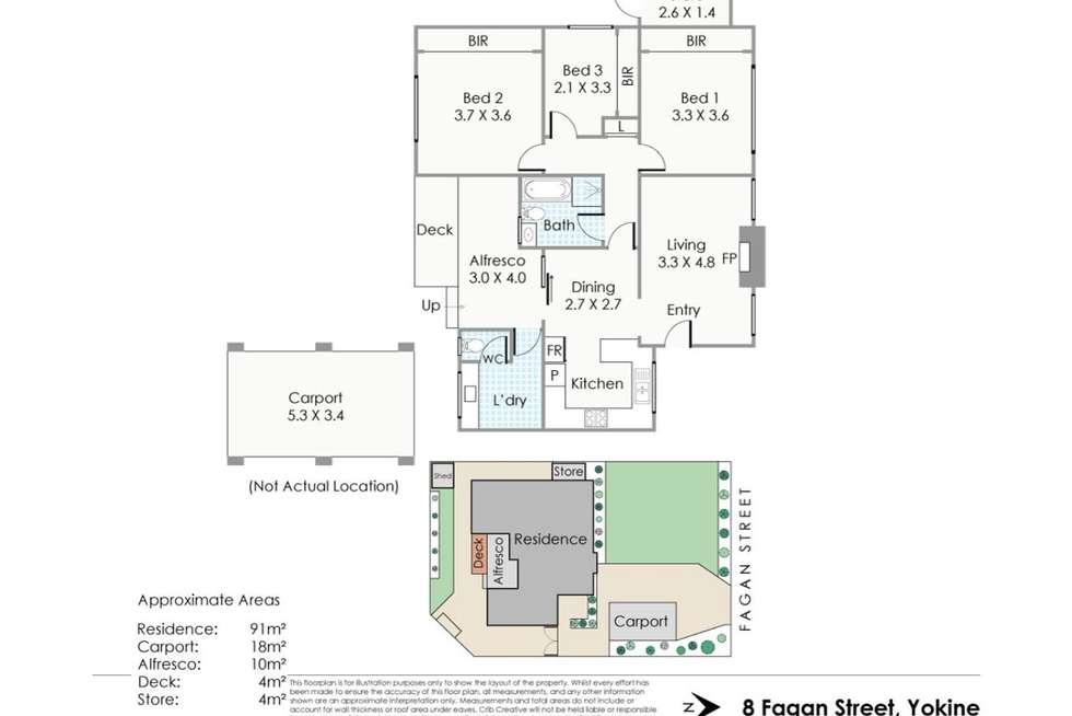 Floorplan of Homely house listing, 8 Fagan Street, Yokine WA 6060