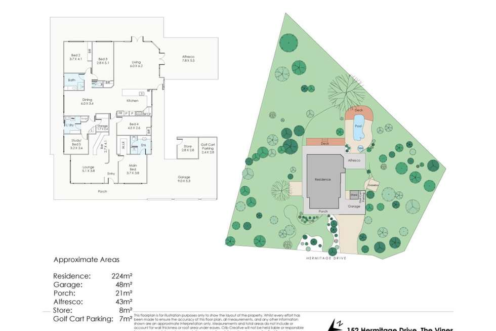 Floorplan of Homely house listing, 152 Hermitage Drive, The Vines WA 6069