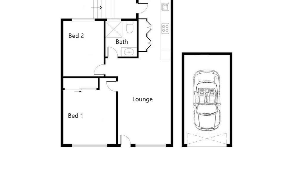 Floorplan of Homely apartment listing, 2/40 Edmondstone Street, Newmarket QLD 4051
