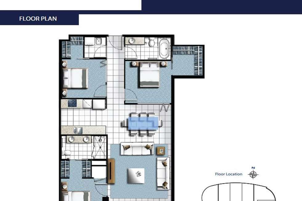 Floorplan of Homely unit listing, 1208/5 Harbour Side Court, Biggera Waters QLD 4216