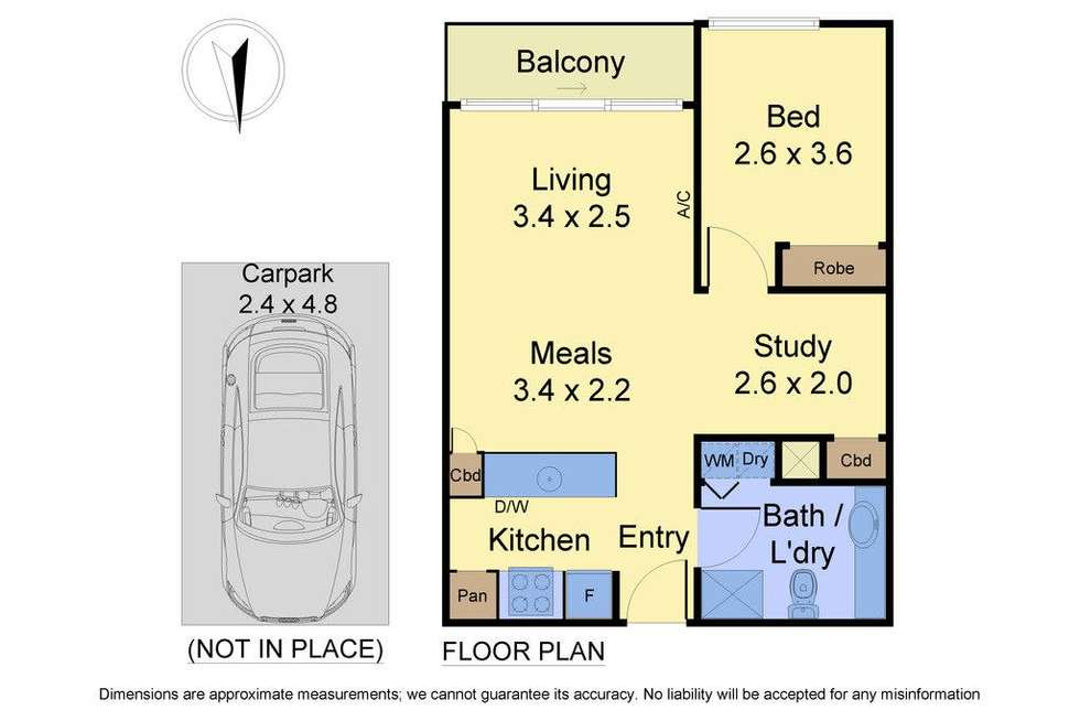 Floorplan of Homely apartment listing, 901/1 Bouverie Street, Carlton VIC 3053