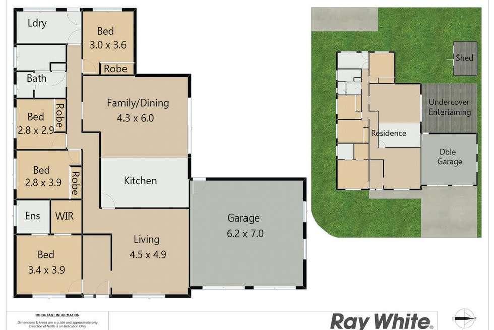 Floorplan of Homely house listing, 25A Harris Street, Cameron Park NSW 2285