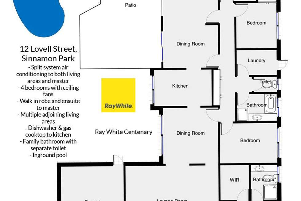 Floorplan of Homely house listing, 12 Lovell Court, Sinnamon Park QLD 4073