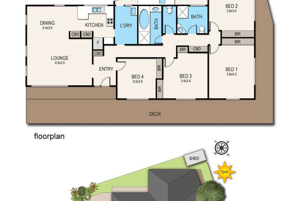 Floorplan of Homely house listing, 14 Bloom Street, Frankston VIC 3199