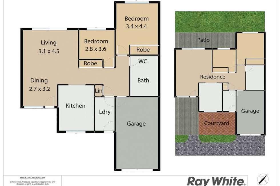 Floorplan of Homely unit listing, 1/82 Warners Bay Road, Warners Bay NSW 2282