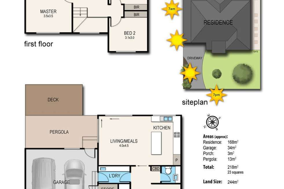 Floorplan of Homely townhouse listing, 7 Argyle Street, Frankston VIC 3199