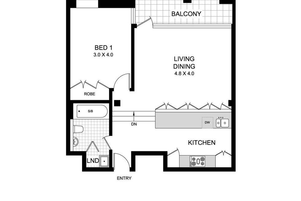 Floorplan of Homely apartment listing, 22/82 Myrtle Street, Chippendale NSW 2008