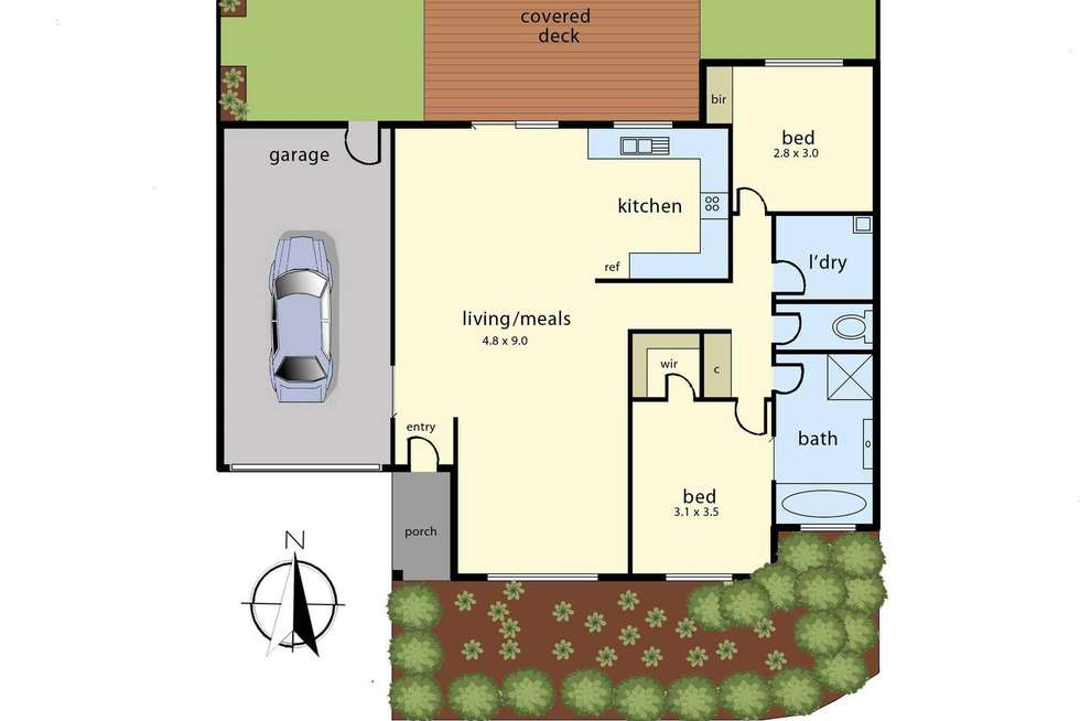 Floorplan of Homely house listing, 10/20 Robin Drive, Carrum Downs VIC 3201