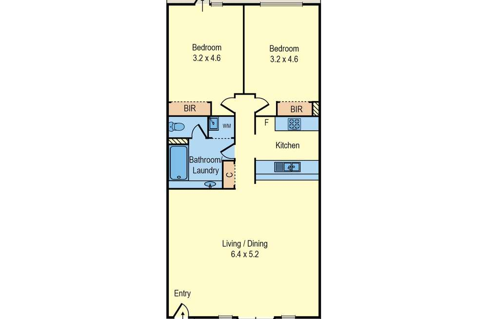 Floorplan of Homely apartment listing, 35/52 Leicester Street, Carlton VIC 3053
