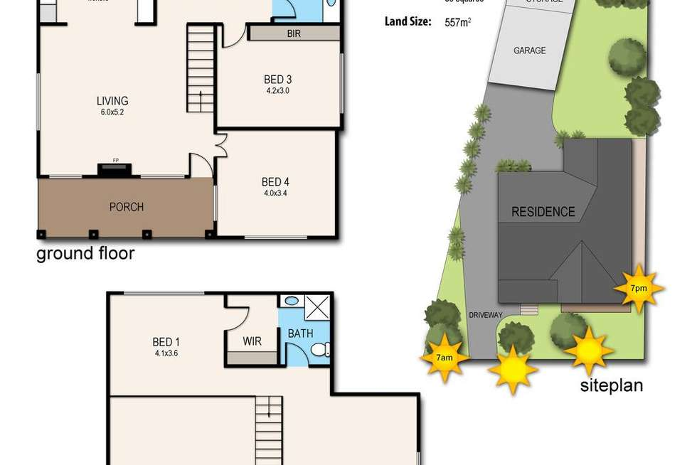 Floorplan of Homely house listing, 15 Ballymore Court, Frankston VIC 3199