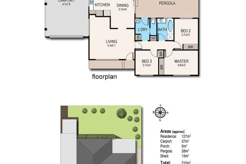 Floorplan of Homely house listing, 16 Melaleuca Court, Frankston VIC 3199
