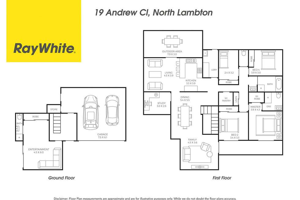 Floorplan of Homely house listing, 19 Andrew Close, North Lambton NSW 2299