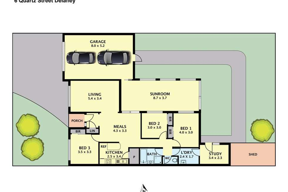 Floorplan of Homely house listing, 6 Quartz Street, Delahey VIC 3037