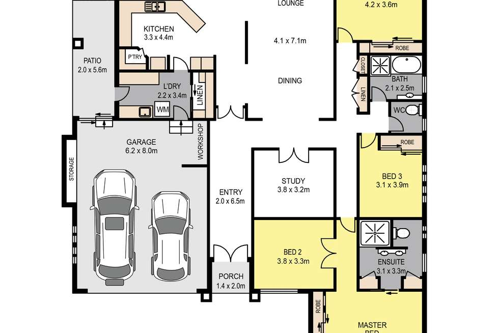 Floorplan of Homely house listing, 8 Putney Court, Murrumba Downs QLD 4503