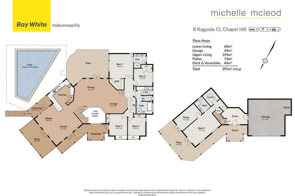 Floorplan of Homely house listing, 8 Kagoola Close, Chapel Hill QLD 4069