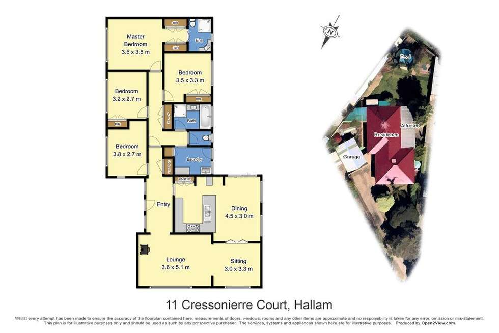 Floorplan of Homely house listing, 11 Cressonierre Court, Hallam VIC 3803