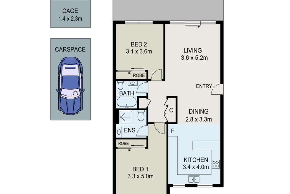 Floorplan of Homely unit listing, 7/93-95 Thomas Street, Parramatta NSW 2150