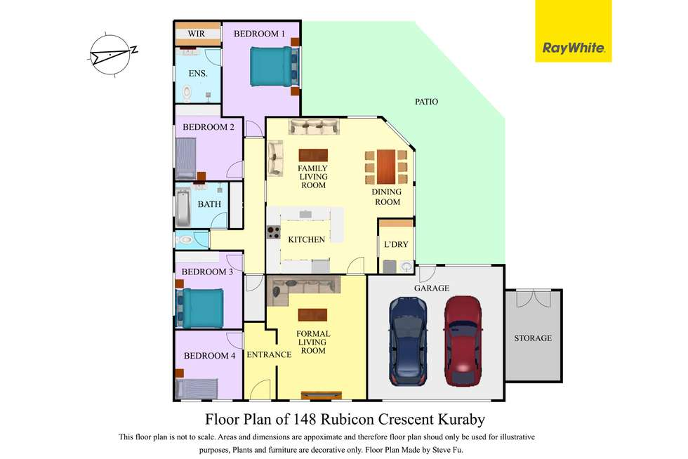 Floorplan of Homely house listing, 148 Rubicon Crescent, Kuraby QLD 4112
