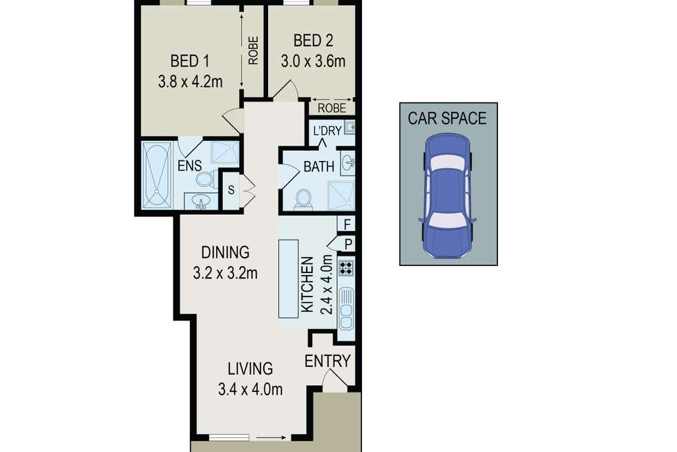Floorplan of Homely apartment listing, 27/4-10 Benedict Court, Holroyd NSW 2142
