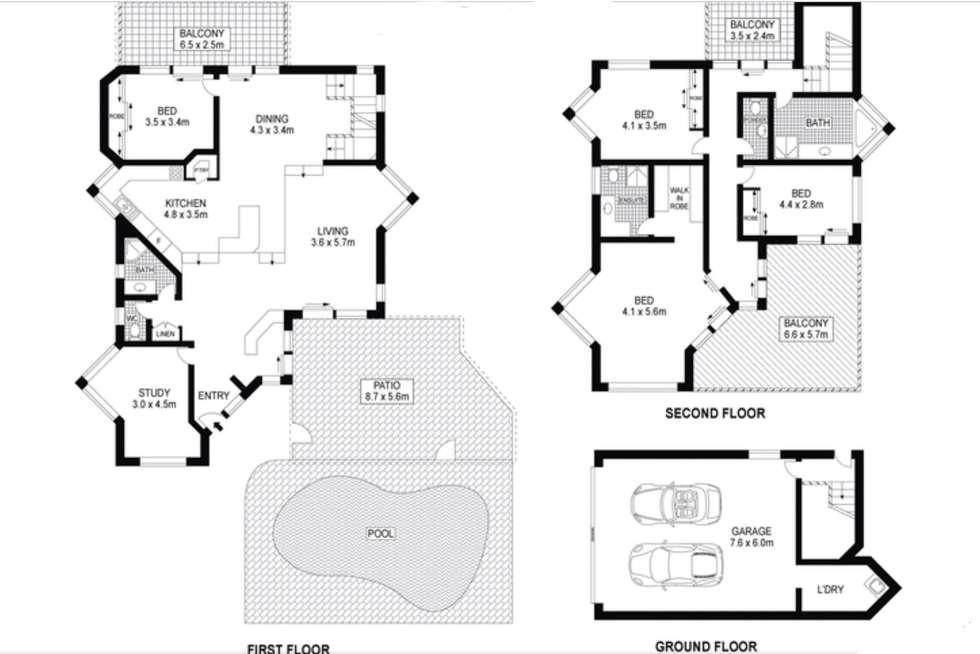 Floorplan of Homely house listing, 59 Wavecrest Drive, Castaways Beach QLD 4567