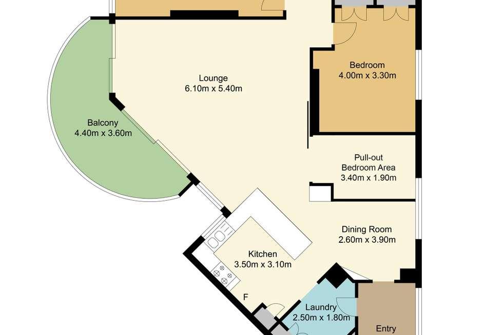 Floorplan of Homely unit listing, 52/4 Thornton Street, Surfers Paradise QLD 4217