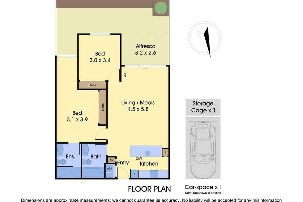 Floorplan of Homely unit listing, 2/2-4 William Street, Murrumbeena VIC 3163