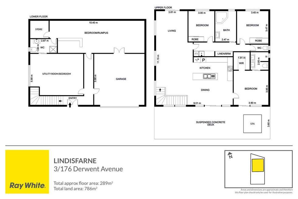Floorplan of Homely townhouse listing, 3/176 Derwent Avenue, Lindisfarne TAS 7015