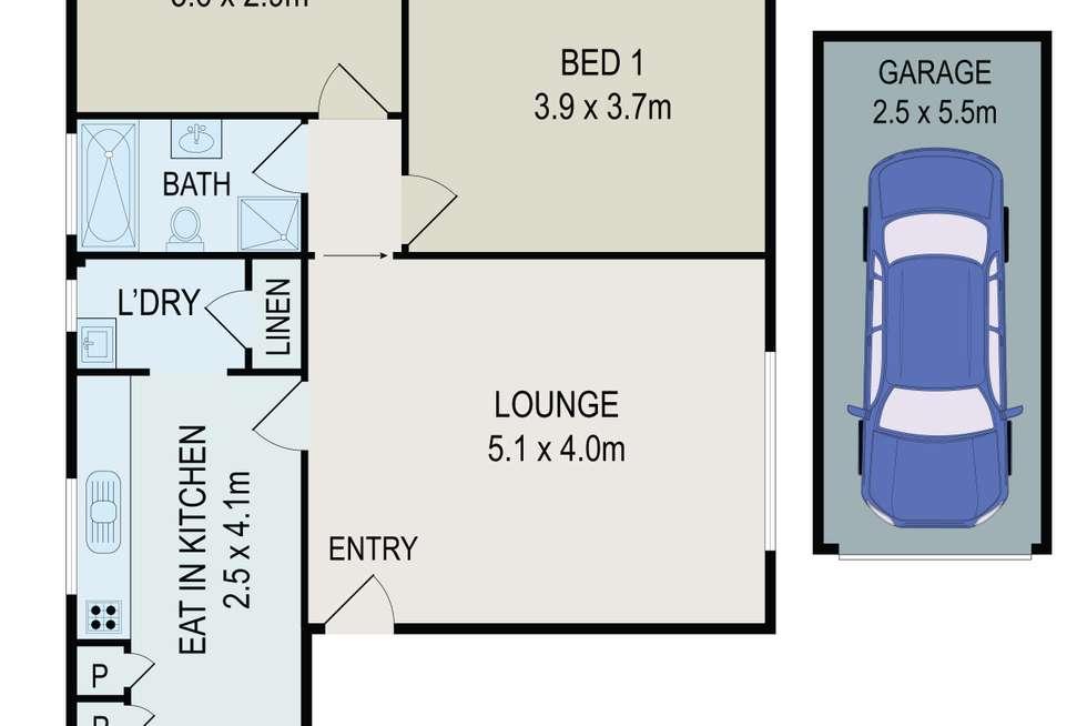 Floorplan of Homely apartment listing, 2/43 Dartbrook Road, Auburn NSW 2144