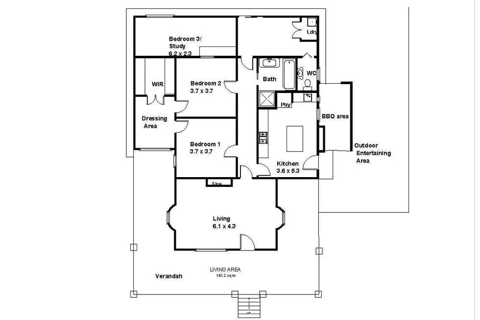 Floorplan of Homely house listing, 3 O'Hanez Street, Berri SA 5343