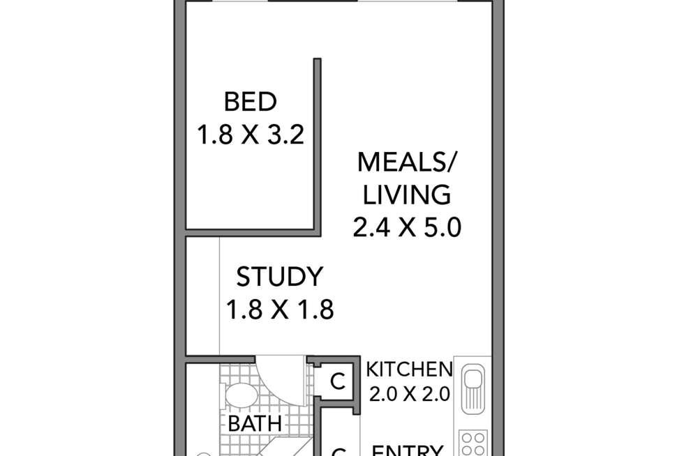 Floorplan of Homely apartment listing, 5119/570 Lygon Street, Carlton VIC 3053