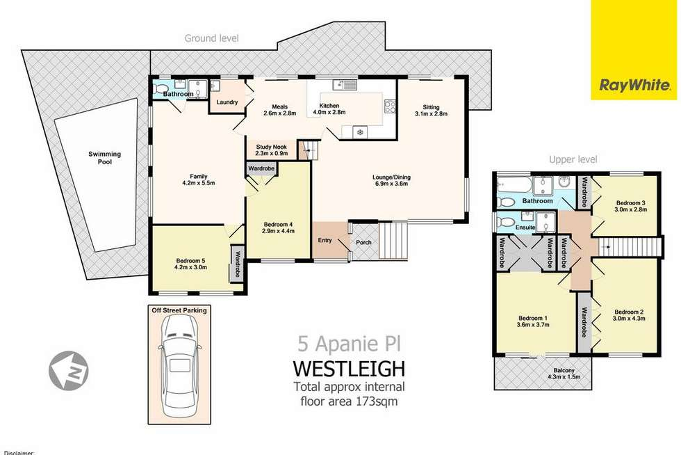 Floorplan of Homely house listing, 5 Apanie Place, Westleigh NSW 2120