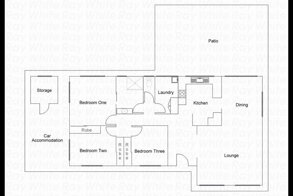 Floorplan of Homely house listing, 71 Rose Avenue, Minden QLD 4311