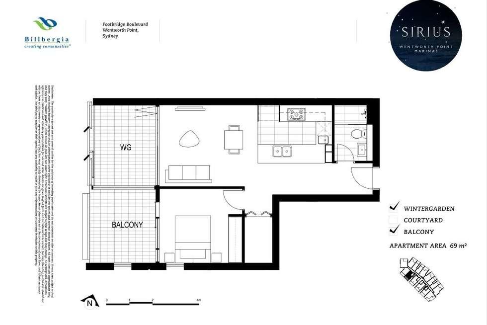 Floorplan of Homely apartment listing, 2314/18 footbridge Boulevard, Wentworth Point NSW 2127