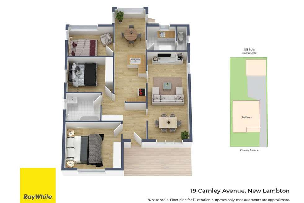 Floorplan of Homely house listing, 19 Carnley Avenue, New Lambton NSW 2305