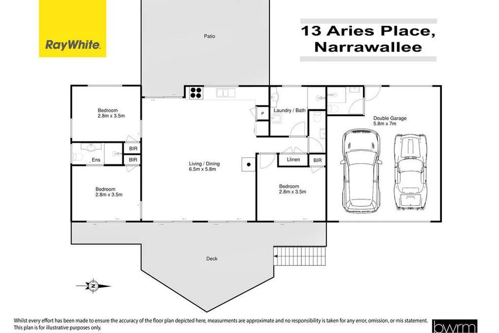 Floorplan of Homely house listing, 13 Aries Place, Narrawallee NSW 2539