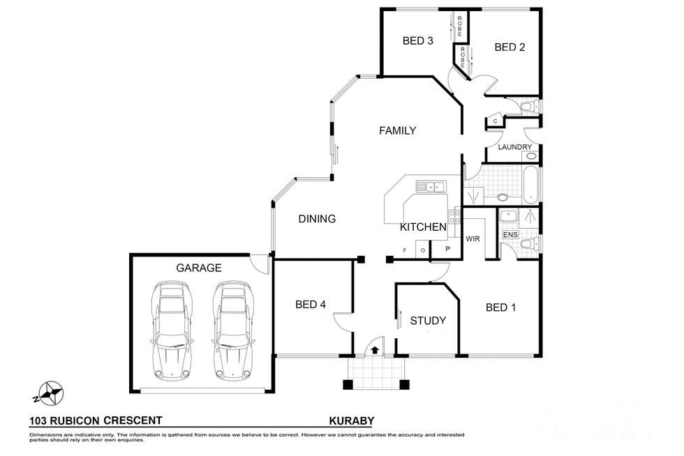 Floorplan of Homely house listing, 103 Rubicon Crescent, Kuraby QLD 4112
