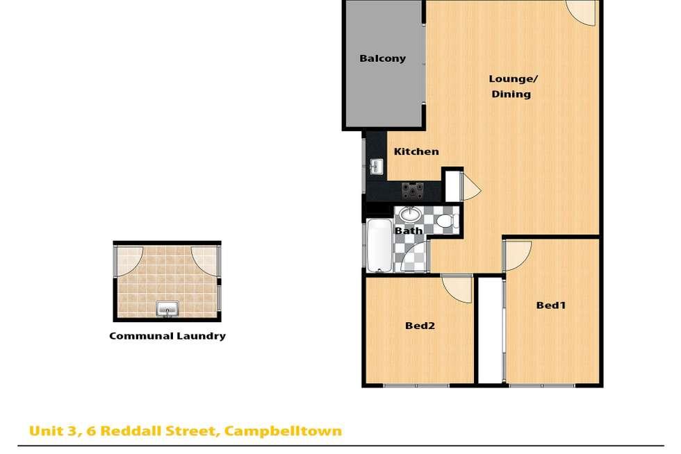 Floorplan of Homely unit listing, 3/6 Reddall Street, Campbelltown NSW 2560