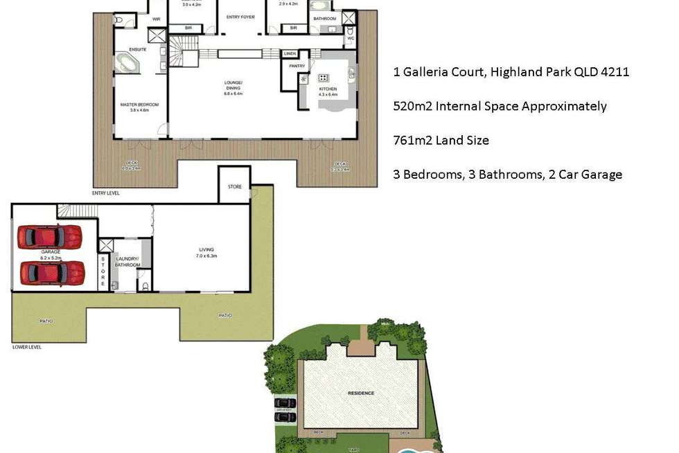 Floorplan of Homely house listing, 1 Galleria Court, Highland Park QLD 4211