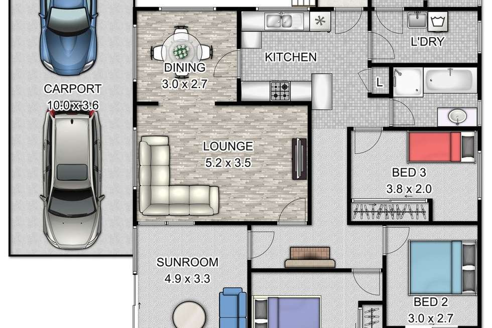 Floorplan of Homely house listing, 15 Robsons Road, Keiraville NSW 2500