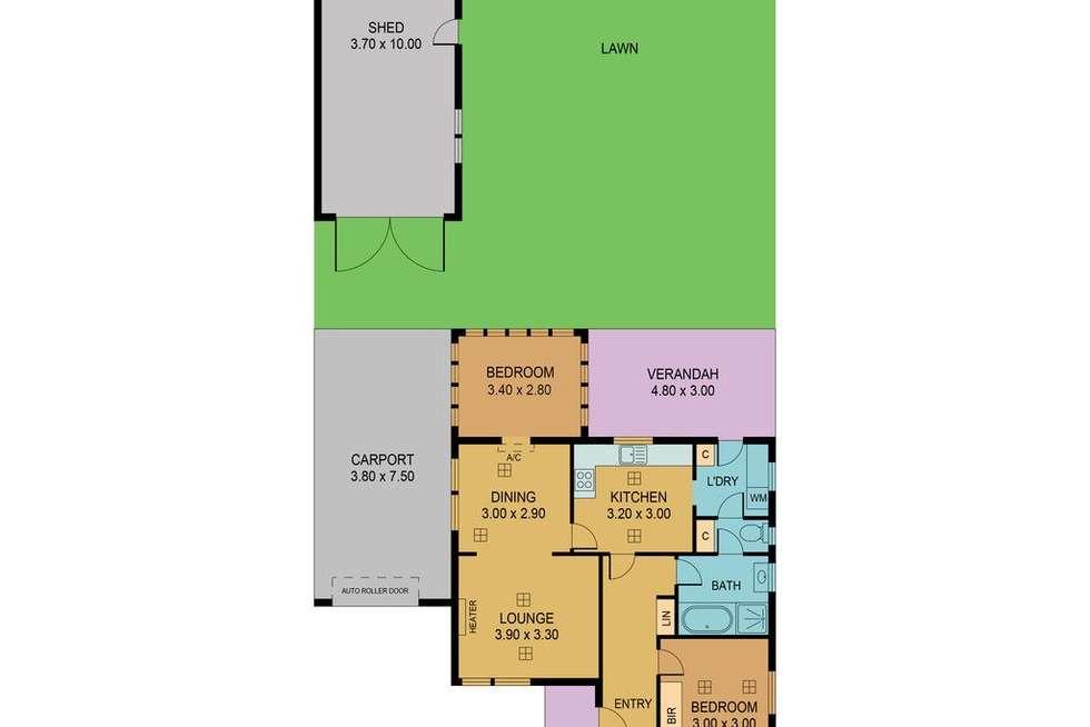 Floorplan of Homely house listing, 26 Nyonga Avenue, Croydon Park SA 5008
