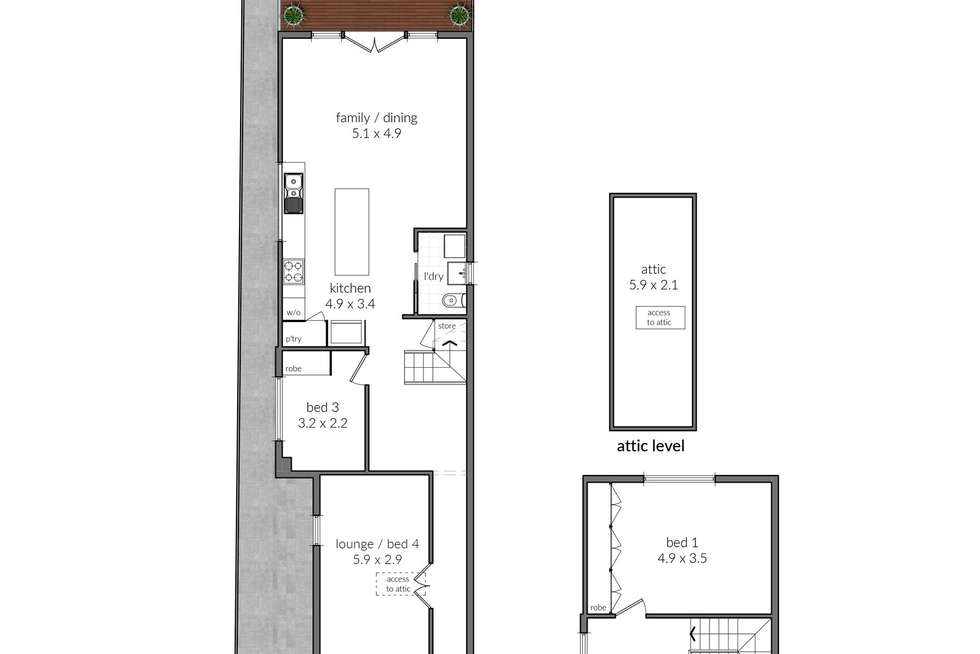 Floorplan of Homely house listing, 97 Westbourne Street, Petersham NSW 2049