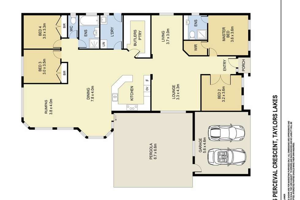 Floorplan of Homely house listing, 35 Perceval Crescent, Taylors Lakes VIC 3038