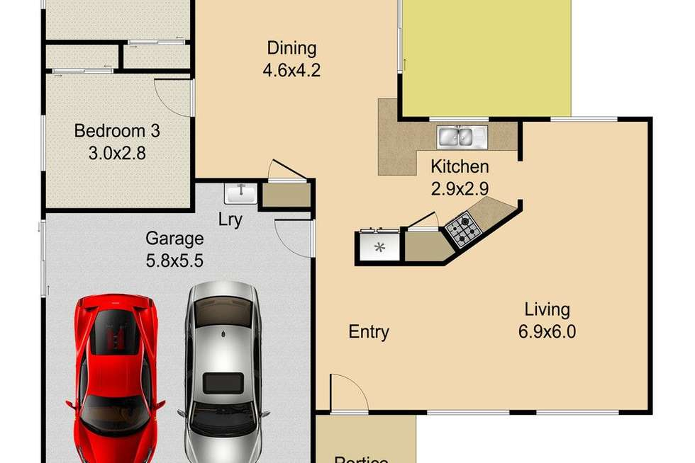 Floorplan of Homely house listing, 23 Talbot Drive, Kallangur QLD 4503