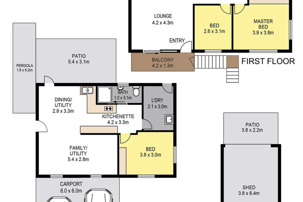 Floorplan of Homely house listing, 63 Shakespeare Parade, Strathpine QLD 4500