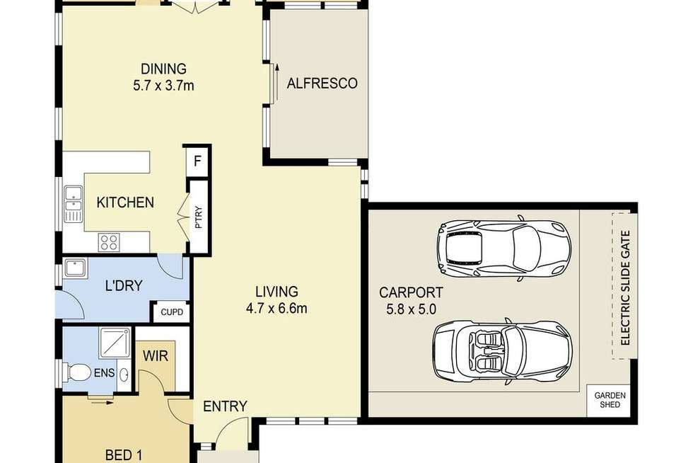 Floorplan of Homely house listing, 20 Lady Nelson Way, Taylors Lakes VIC 3038