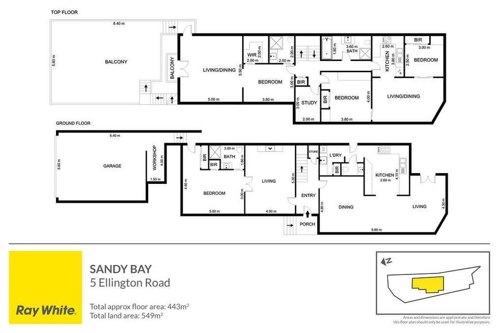 Floorplan of Homely house listing, 5 Ellington Road, Sandy Bay TAS 7005