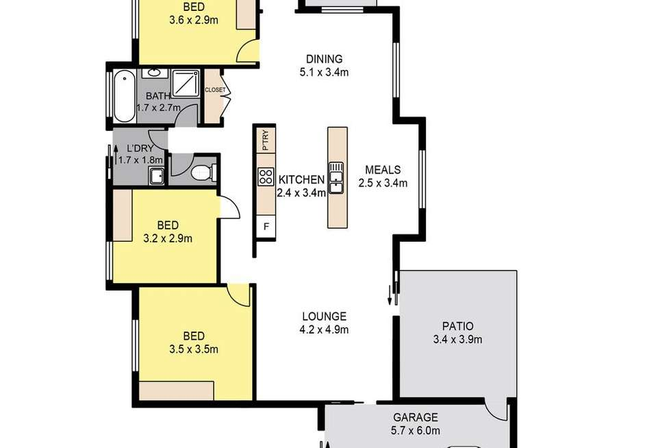 Floorplan of Homely house listing, 4 Dauntless Lane, Bray Park QLD 4500