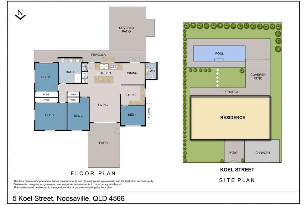 Floorplan of Homely house listing, 5 Koel Street, Noosaville QLD 4566
