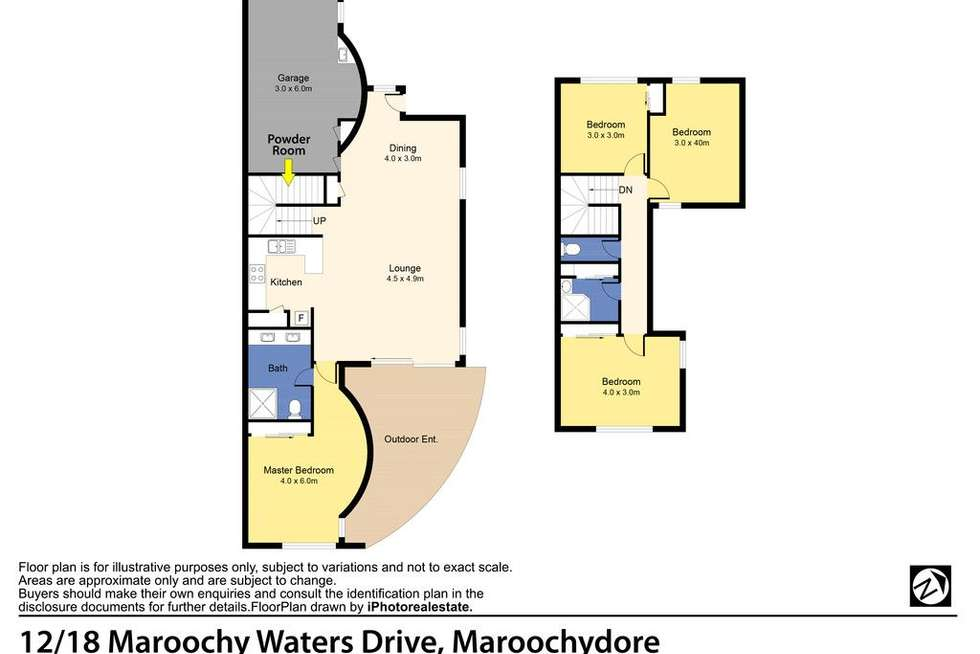 Floorplan of Homely house listing, 12/18 Maroochy Waters Drive, Maroochydore QLD 4558